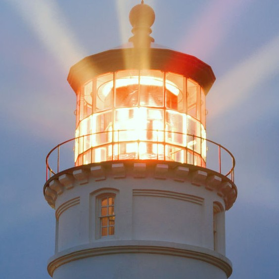37506783 - lighthouse beams illumination into rain storm maritime nautical beacon